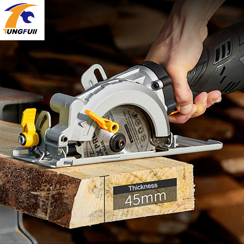 600W DIY Mini Circular Saw with Laser Multifunction Handheld Electric Chainsaw Portable Flip Chip Cutting Machine Woodworking