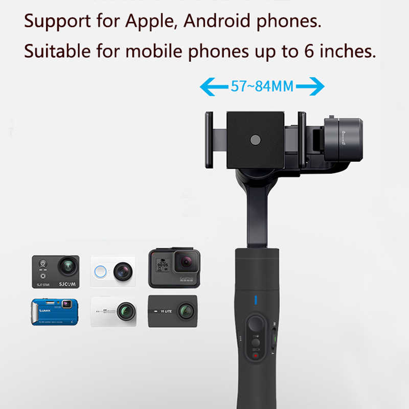 FeiyuTech Vimble 2 Feiyu 3-Axis يده Gimbal الهاتف الذكي استقرار تمديد القطب ترايبود آيفون X 8 شاومي سامسونج