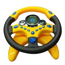 Pretend Play Electric Steering Driving Wheel Sound Light Education Kids Toy New