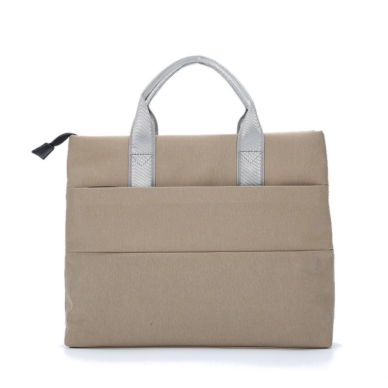 Portable File Bag A4 Women Bag Fashion Handbag Cotton Briefcase Male Female Business Office Meeting Bag Custom Promotional