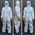 Segurança proteção reusável roupas de proteção à prova dwaterproof água impede a poeira terno plástico lavável e reutilizável unisex proteção