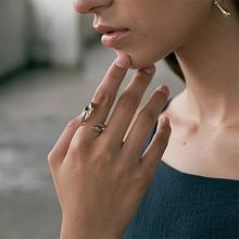 Yikuf88 женское кольцо 18k Открытое змеиная линия может быть
