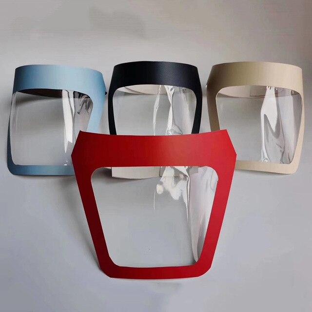 Adjustable Protector Facial Transparente Mouth Face Shield Cover Hat Visors Anti Spitting Saliva Dustproof Mask Hat Kids Adult