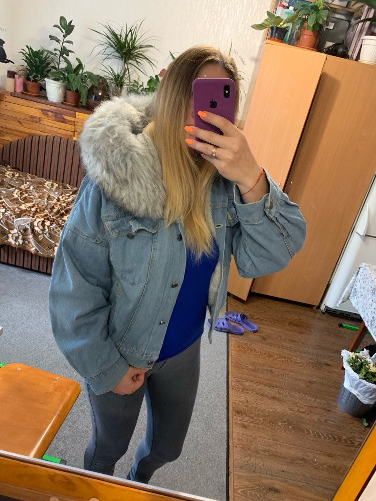 Hde2587472c8e49b4ae998d9e488ab5833 Elexs velvet thick denim jacket female winter big fur collar Korean locomotive lamb coat female student short coat 72510