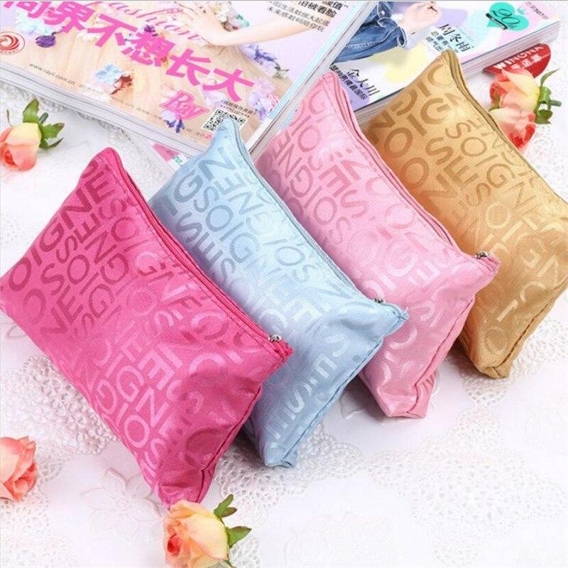 Women Cosmetic Bag Portable Cute Multifunction Beauty Zipper Travel Letter Makeup Bags Pouch Toiletry Organizer Holder Toiletry Cosmetic Bags & Cases  - AliExpress