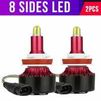 DIC 8 Side 12000LM Mini H4 LED H7 60W/pair CSP Chip Car Headlight Bulb H3 H11 5202 9005/HB3 9006/HB4 880/H27 H1 Fog Light 6000K