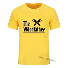 Men's vintage tops t shirt the woodfather carpenter worker