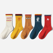 Pure color series explosion models ladies style personality socks various colors tide 2019 fashion popular elements