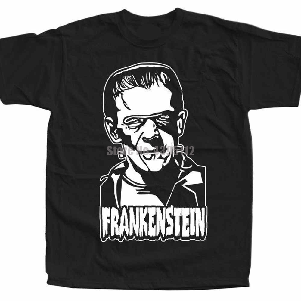 Frankenstein Movie Poster Unisex Horror Tshirt Snus T-Shirt Sports Tshirts Stylish T-Shirts Offers Of The Day Qziozi image