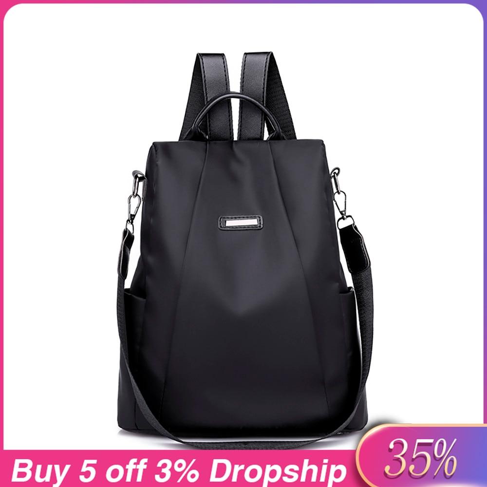 Женский рюкзак из ткани Оксфорд с защитой от кражи, рюкзак для девочек, школьный рюкзак для подростков, водонепроницаемая Повседневная дорожная сумка #4
