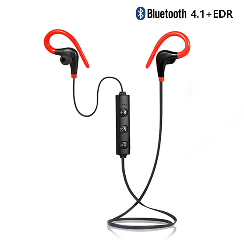 TONGBOXIN BT-1 Bluetooth 4.1+EDR Wireless Earphone For Sports Running Ear Hook Super Bass With Mic In Earbuds Headset