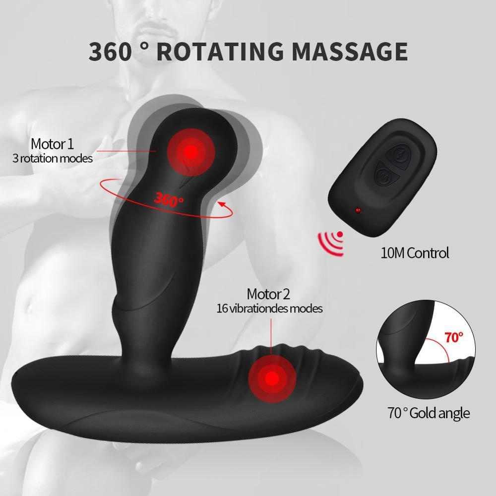 Elektryczny impuls wstrząs wibrator prostaty impuls elektryczny Sex Shock wibrator analny Dildo zdalnego stymulator prostaty krocza...