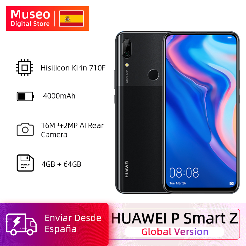 Global Version Huawei P Smart Z 4GB 64GB Kirin 710F Octa Core Smartphone Auto Pop Up Front Camera 6.59'' Mobile Phones