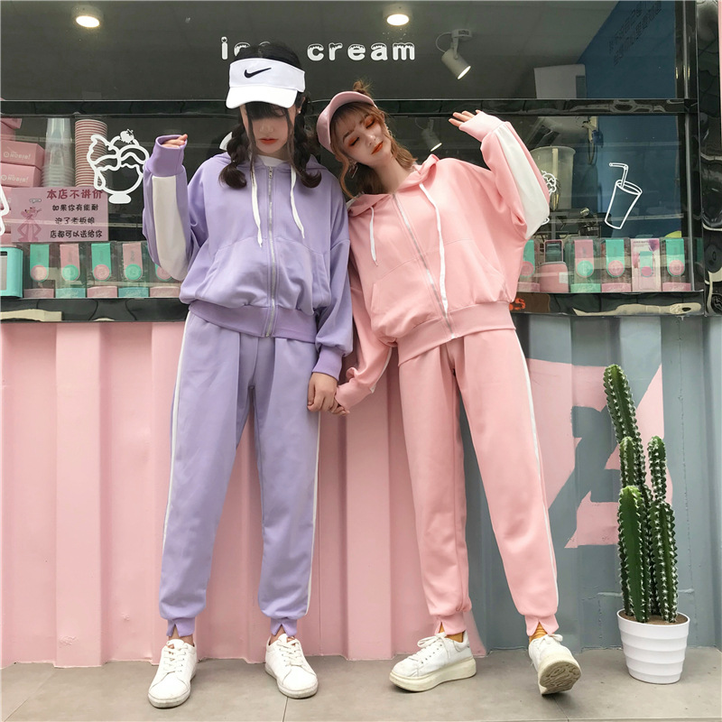 Dresy Damskie Two Piece Pants Set Hat Sport Women Tracksuit Lounge Wear Outfits 2020 Fashion Ropa Casual Mujer Survetement Suits