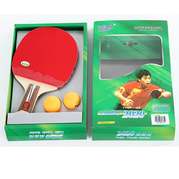 Genuine Product <font><b>729</b></font> Ping Pong Shot 2020 Ping Pong Racket Pp Finished Racket Penhold Horizontal Position Inverted Rubber on Both image
