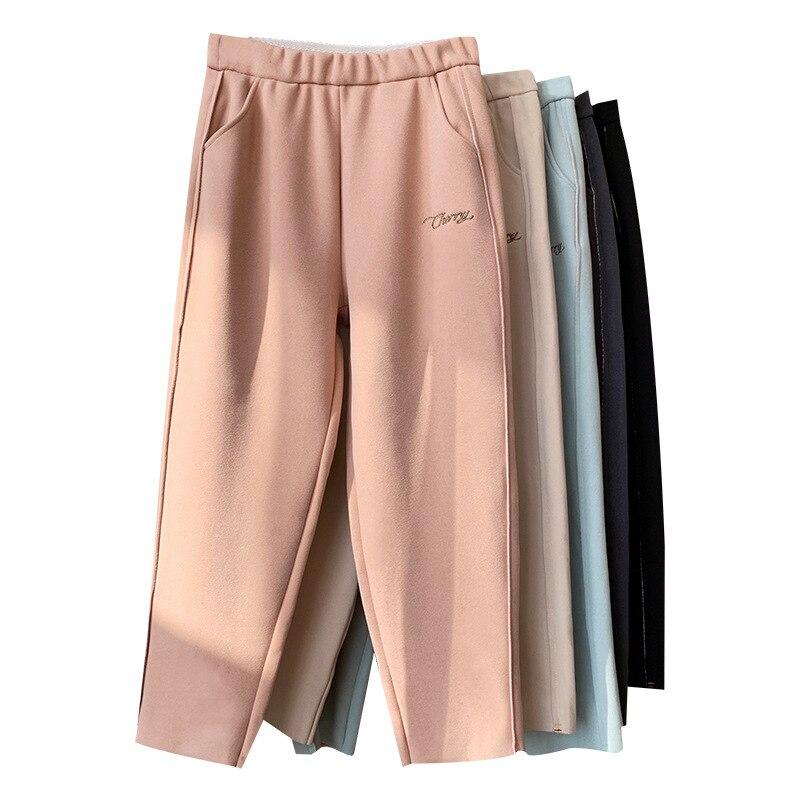 Женские брюки карандаш с высокой талией, повседневные однотонные шаровары, теплые длинные брюки для осени и зимы, 2019|Брюки | | АлиЭкспресс - одежда