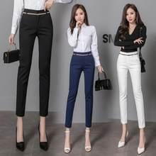 Pantalon taille haute pour femmes d'affaires, tenue de travail, de bureau, de carrière, longueur cheville, L66, collection printemps et été 2020, pantalon décontracté
