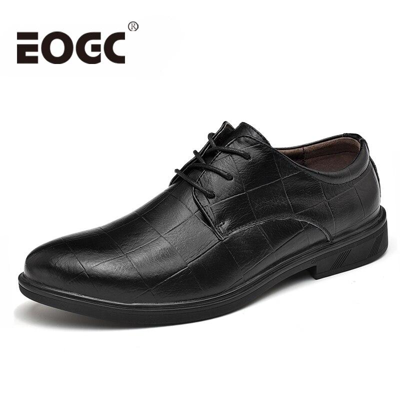 Large Size 37~47 Oxford Shoes For Men Dress Shoes Handmade Cow Split Leather Classic Men Business Official Shoes Men Shoes