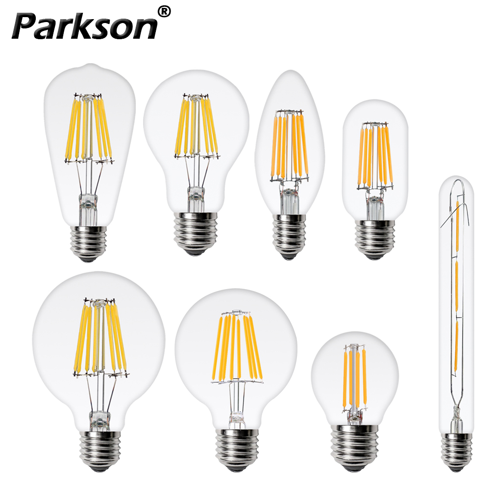 E27 E14 LED Edison Bulb 220V 2W 4W 6W 8W C35 ST64 G80 G95 T110 A60 Retro Vintage Lampada LED Lamp Filament Light Bulb Candle