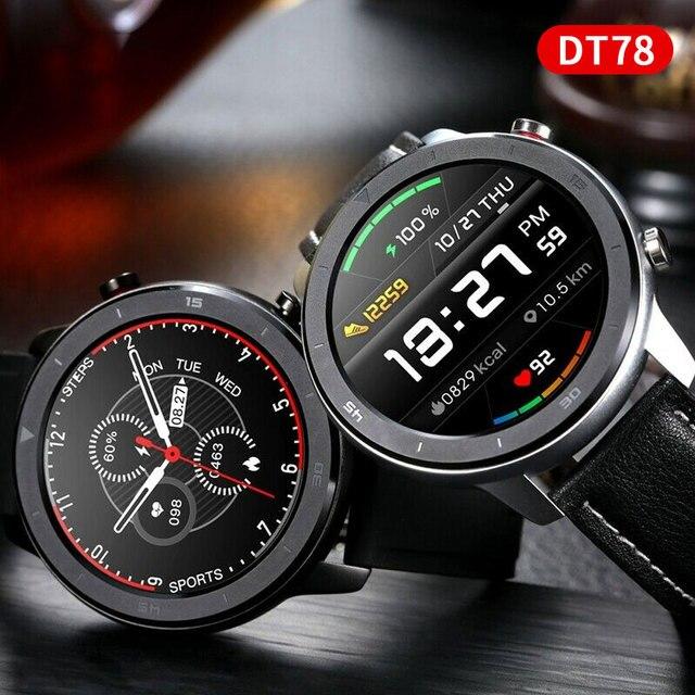 Smart Watch NO.1 DT78 IP68 1.3inch Sport Men Women Wearable Running track call reminder heart rate bluetooth fitness smartwatch