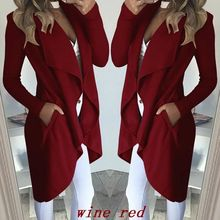 long trench coat  fall 2018 gothic clothes womens 2019 plus size overcoat fashion clothing casual pockets