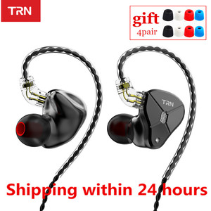 Image 1 - NEW TRN BA5 5BA HIFI Earphone 10 Unit Balanced armature In Ear Earphones Metal Monitor Headset Noise Earbud Earphone V80 ZSX V90