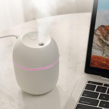 Ultradźwiękowy mininawilżacz powietrza 200ML zapachowy olejek eteryczny dyfuzor Home Car generator pary USB Mist Maker z LED lampka nocna 2021 nowy tanie i dobre opinie NoEnName_Null CN (pochodzenie) Indoor humidifier Z tworzywa sztucznego the humidifier