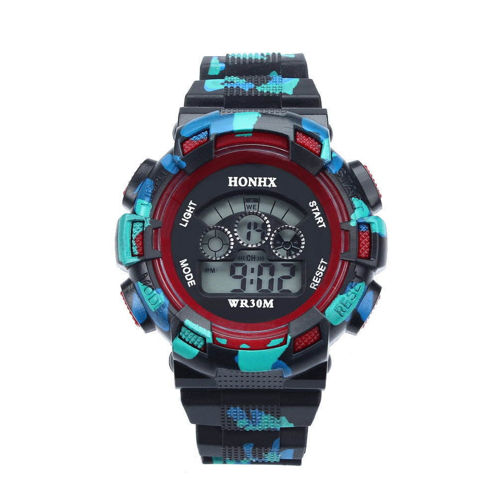 Watch Alarm-Date Digital Deportivo Waterproof Hot Reloj Life Gift LED Boys Kids Children