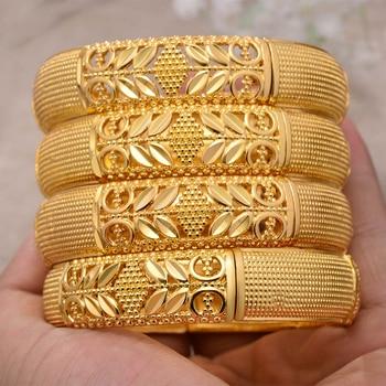 ANNAYOYO-brazaletes de Color dorado etíope de África para mujer, pulsera de trigo,...