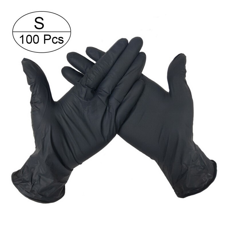 100 PCS Disposable Nitrile Gloves and Multi Purpose Latex Gloves for Virus and Flu Protection 19