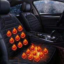 12V Heated Durable Adjustable Car Seat Cushion Cover Warmer Winter Household Cushion Black Safe Seat Heater Universal 12v universal car heated seat cover heating car seats cushion heater pad winter auto warmer with cigarette lighter covers