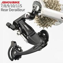 Jshou bicicleta traseira shifter desviador 7 8 9 10 11 velocidade da bicicleta parte acessórios para mtb mountian m130 m200 m300 m610 sistema