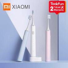 Neue XIAOMI MIJIA T500 Elektrische Zahnbürste Smart Sonic Pinsel Ultraschall Bleaching Zähne vibrator Drahtlose Oral Hygiene Reiniger