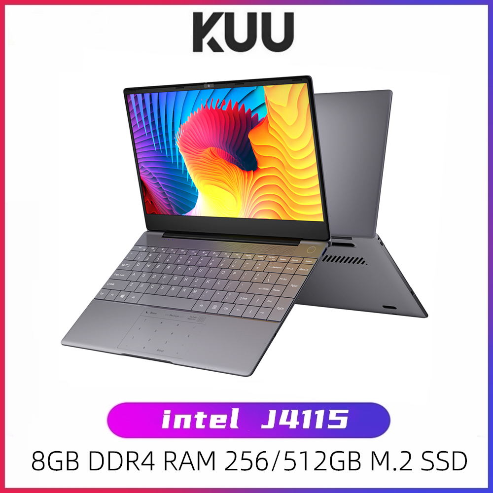 KUU K2S For Intel Celeron J4115 14.1-inch IPS Screen All Metal Shell Office Notebook 8GB RAM 256GB/512GB SSD with type C laptop