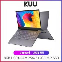 Kuu k2s para intel celeron j4115 14.1-inch ips tela todo o metal escudo escritório notebook 8gb ram 256gb/512gb ssd com tipo c portátil