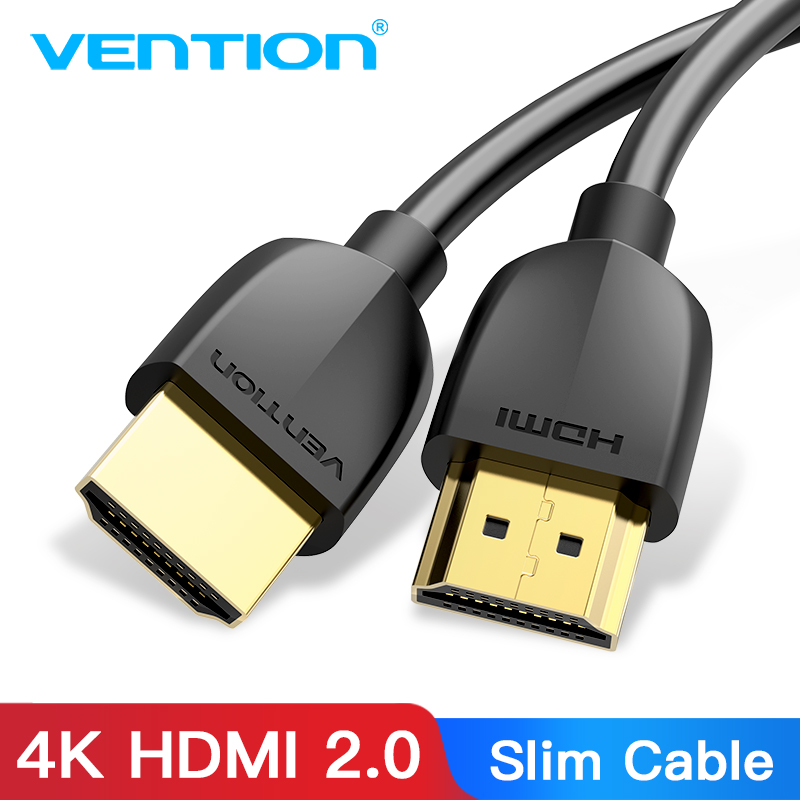 Vention HDMI Cable Slim HDMI To HDMI 2.0 HDR 4K@60Hz For Splitter Extender 1080P Cable For PS4 HDTV Projector 1m 3m Cable HDMI