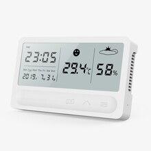 باندون بسيط المنزل الذكي الرقمية الالكترونية درجة الحرارة و مقياس الرطوبة ميزان الحرارة المنزلية داخلي الرطوبة الجافة