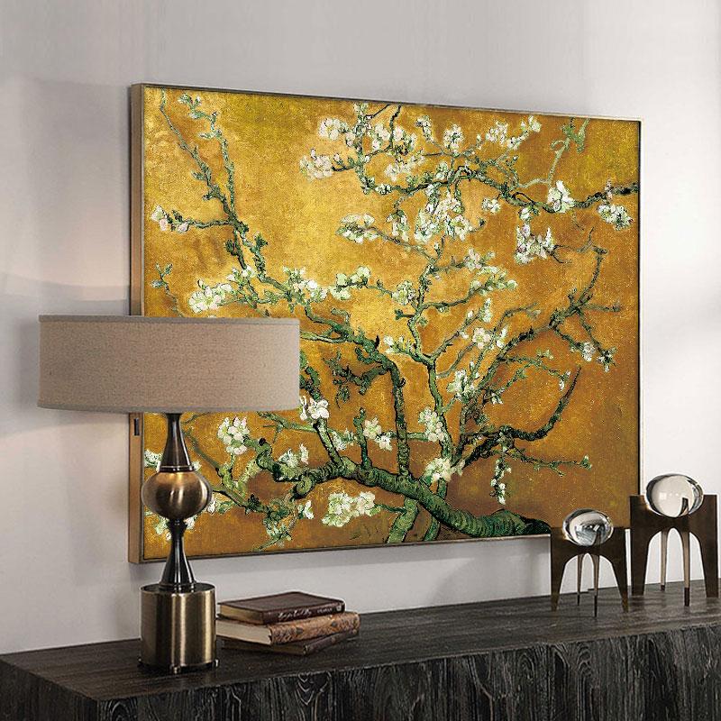 Vincent Van Gogh Blossoming badem ağacı posterler ve baskılar empresyonist yağlı boya duvar tuvali sanat resmi oturma odası için