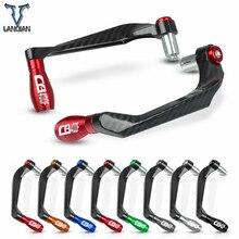 "7/8"" 22mm motorcycle Accessories motor CNC Aluminum Handlebar Grips Guard Brake Clutch Levers Guard Protector For Honda CB400F"