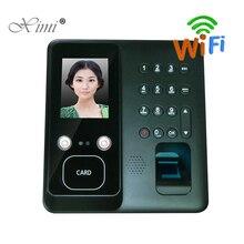 Бесплатная доставка, машина для наблюдения за лицом F610 с Wi-Fi, системой контроля доступа по отпечатку пальца, карточным часами