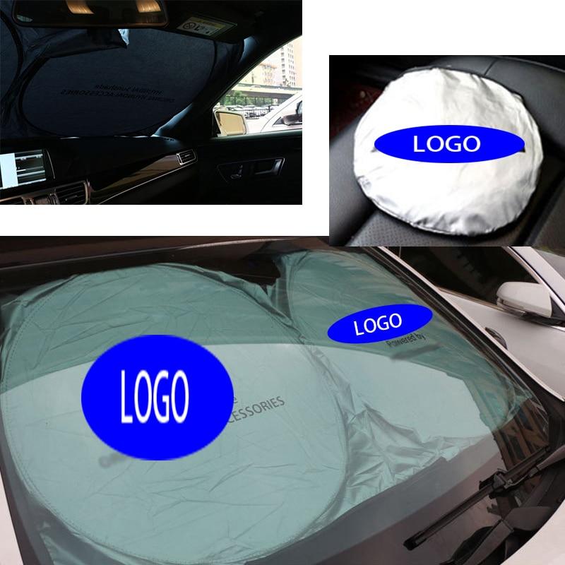 1PCS Car Sun Shade Shield Outdoor UV Foldable Sun Visor fit for BMW MINI Benz AMG Honda Audi VW Lexus Ford Mazda Jaguar Infiniti|Windshield Sunshades| |  - title=