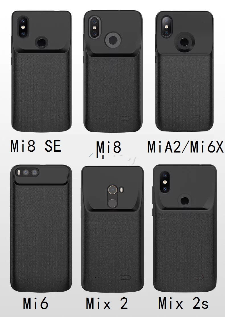 2020 <font><b>battery</b></font> charger <font><b>case</b></font> For Xiaomi <font><b>Mi</b></font> <font><b>A2</b></font> <font><b>Mi</b></font> 6X Redmi note7 <font><b>MI</b></font> 9 External charger Cover Backup power bank Charging <font><b>case</b></font> Capa image