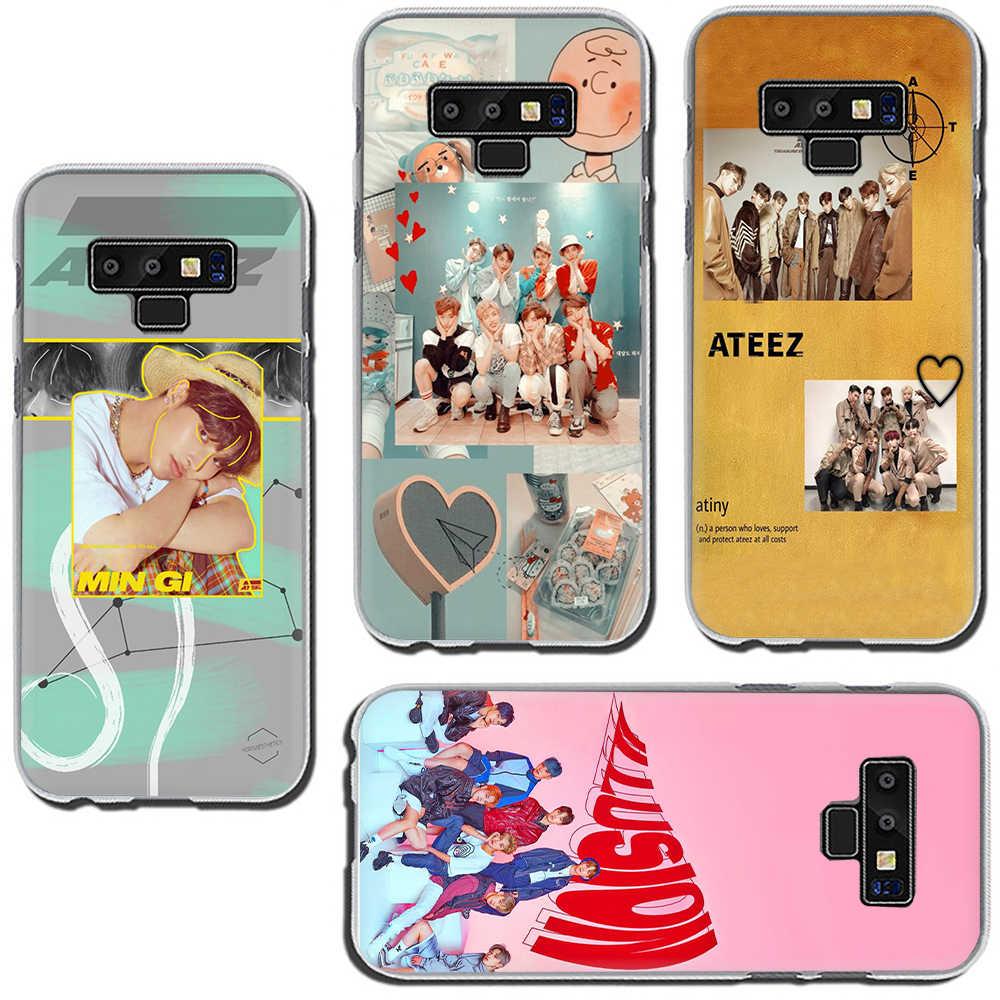 ATEEZ HongJoong SeongHWA sert telefon kapak samsung kılıfı Galaxy A3 5 2017 A6 7 8 9 2018 A10 30 40 50 70