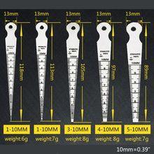 5 шт./компл. 1-10 мм конус из нержавеющей стали Калибровочная апертура весы Клин щупа 35ED