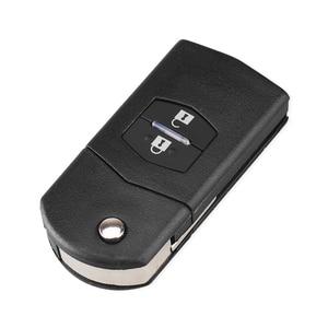 KEYYOU 2/3 Кнопка дистанционный ключ заготовка чехол Складная откидная оболочка ключа дистанционного управления чехол Fob PAD для MAZDA 2 3 5 6 RX8 MX5 2B