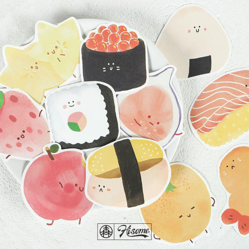 Snack Sushi Memo Pads Post Sticker Scrapbook Diary Planner Sticky Notes Office Stationery School Supplies 30Sheets