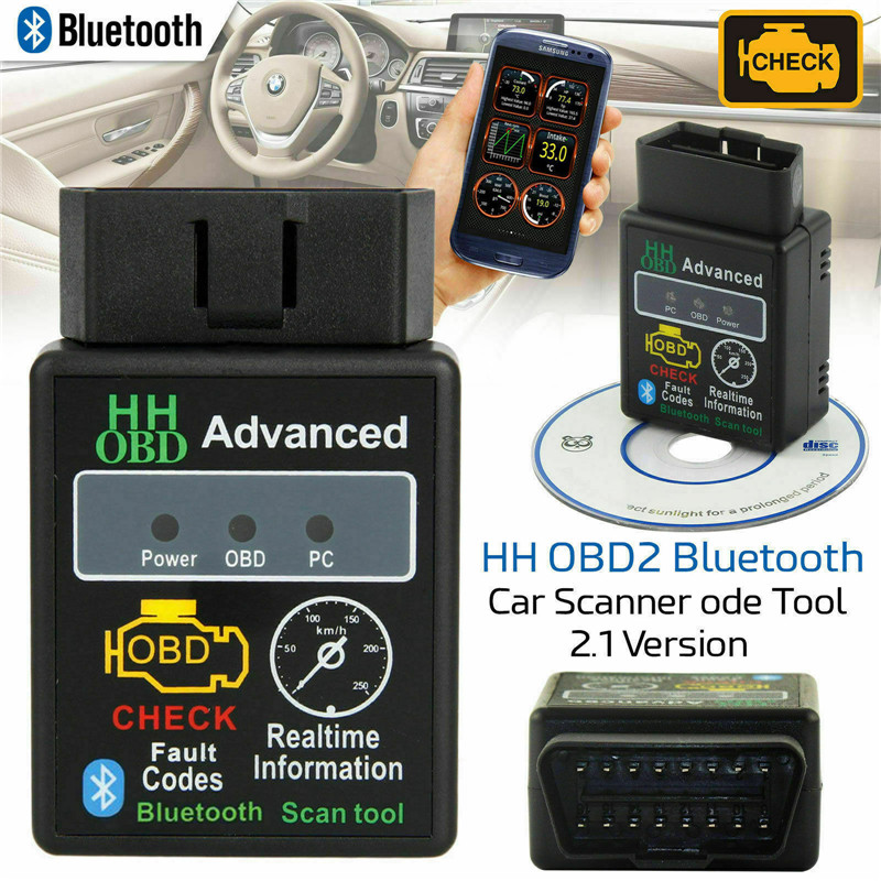 Bluetooth ELM327 HH V2.1 OBD2 Car Scanner Car Fault Diagnostic Android Torque UK Automobile Fault Detection Instrument