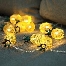 3M 20LED Iron Pineapple Night Lights Waterproof Lantern Romantic Christmas Garlands Wedding Party Garden Birthday Decoration