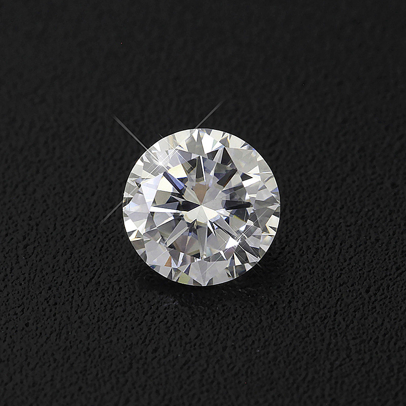 BOEYCJR 0.3ct 4mm D Color Round Brilliant Cut 5mm Moissanite Loose Stone VVS1 Excellent Cut 3E Grade Jewelry Making Stone 1