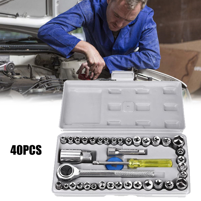 40 шт./компл. автомобильный комплект для ремонта грузовиков гаечный ключ рукав ручка инструмент комбинированный набор